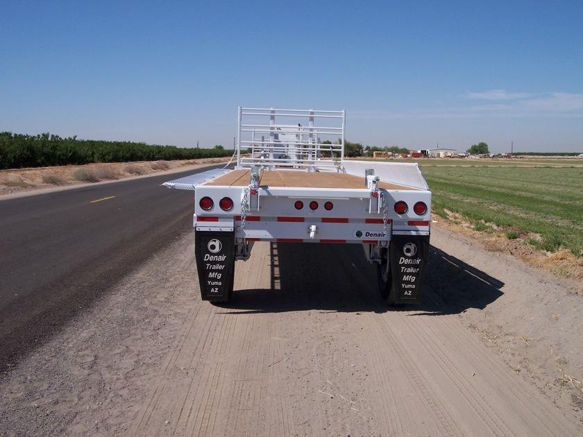 White Denair Field Harvesting Trailer With Hinging Sideboard
