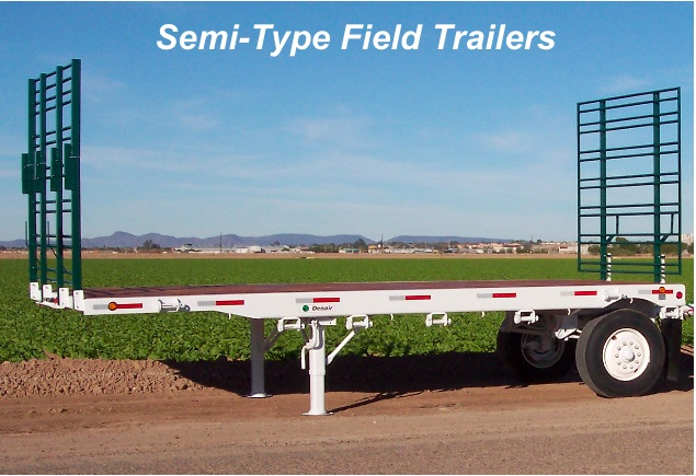 Semi-Type Field Trailer